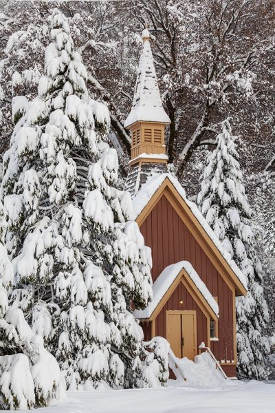 Yosemite Chapel Heavy Snow
